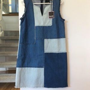 NWT Nanette patchwork Jean dress